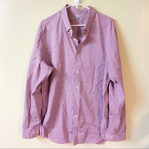 Uniqlo XL slim fit checked red button down shirt